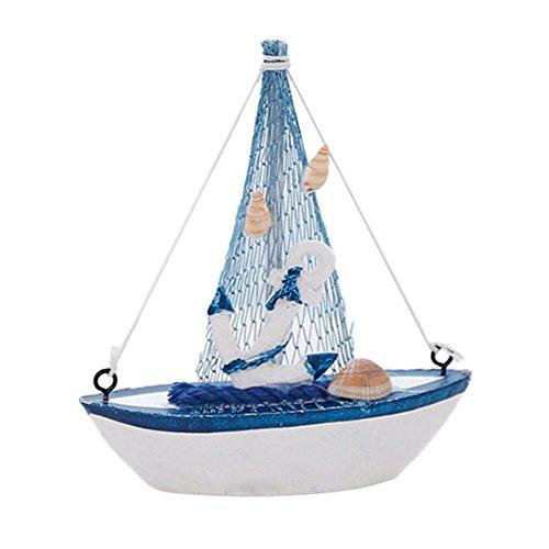 symboat Vintage mediterranen Stil Marin Nautical aus Holz blau Boot, Segeln Boot Handwerk aus Holz