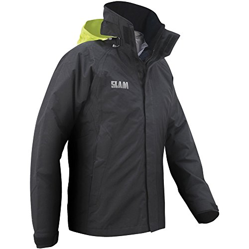 Slam Mens Force 1 Waterproof Breathable Fluorescent Hooded Jacket Black