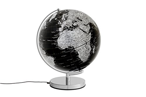 emform Tischglobus Stellar Black Light, Metall & Kunststoff, 300 x 380 mm, Beleuchtet