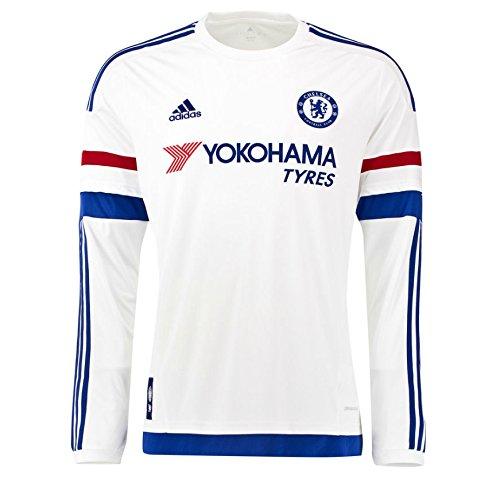 2015-2016 Chelsea Adidas Away Long Sleeve Shirt (Adidas Chelsea Replica Away Trikot)