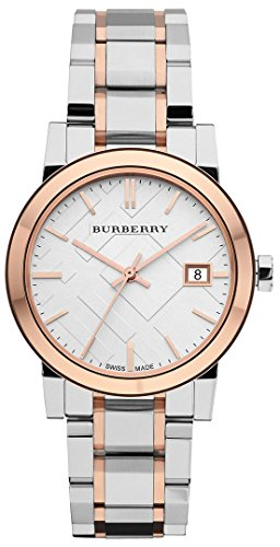 BURBERRY WOMEN'S 34MM STEEL BRACELET & CASE SWISS QUARTZ ANALOG WATCH BU9105