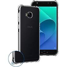 Funda Asus ZenFone 4 Selfie Pro ZD552KL, Siuber Delgado Crystal Clear Transparent Carcasa [Absorción de golpes, Antideslizante, Anti Arañazos] Espesor y Raised Esquina Diseño Premium Flexible TPU Silicona Protectora Cover para Asus ZenFone 4 Selfie Pro