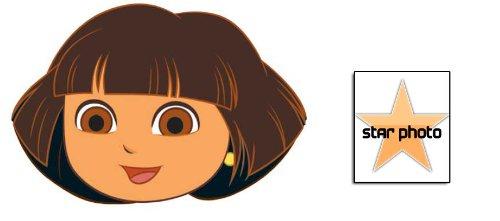 Dora The Explorer Karte Partei Gesichtsmasken (Maske) - Enthält 6X4 (15X10Cm) starfoto