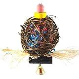 Uniqstore Papagayo Natural Grain Super Shredder Ball mantener a tu ave ocupada durante semanas de búsqueda de tesoros ocultos