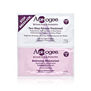 ApHogee Stop Breakage on Chemically Treated or Damaged Hair 2 Packet Set Includes: 1.0 oz Two-Step Protein Treatment + 0.75 oz Balancing Moisturizer