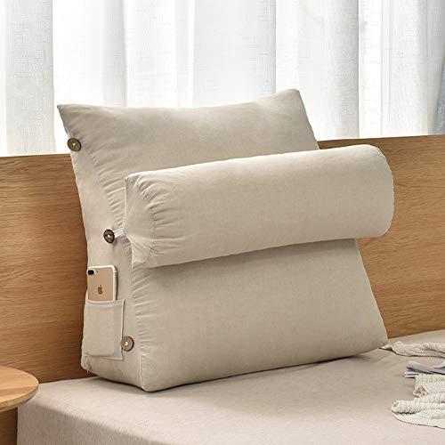WXQY Bett Kopf Kissen/Sofa matratze dreieck pad einstellbare kopfstütze/unterstützung Bett rückenpolster unterstützung pad/leseauflage/büro wattepad (Therapeutische Neck)