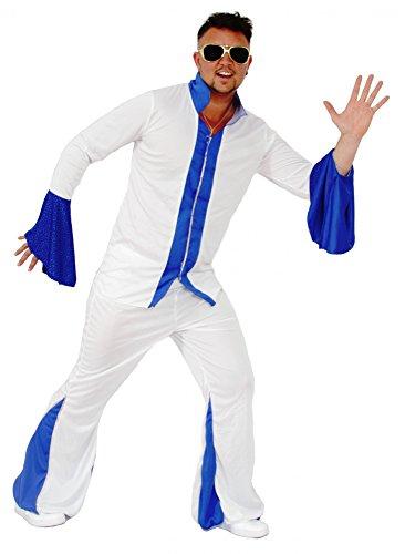 (Foxxeo 40112 | 70er Jahre Kostüm Disco für Herren , Größe:L)
