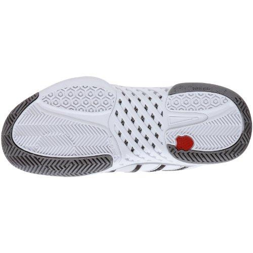 K-Swiss Bigshot, Baskets mode homme Blanc (White/Silver/Black)