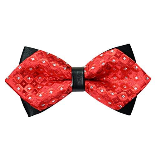 Kostüm Box Rotwein - Xmiral Fliege Herren in 9 Rot Farben Schleife gebunden und verstellbar (12CM X 6CM) für die Hochzeit(G)