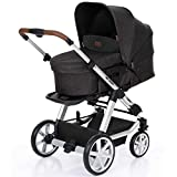 ABC Design Turbo 4 - Kombikinderwagen - Komplett-Set 2in1 - inkl. Babywanne & Sportwagen (Piano)