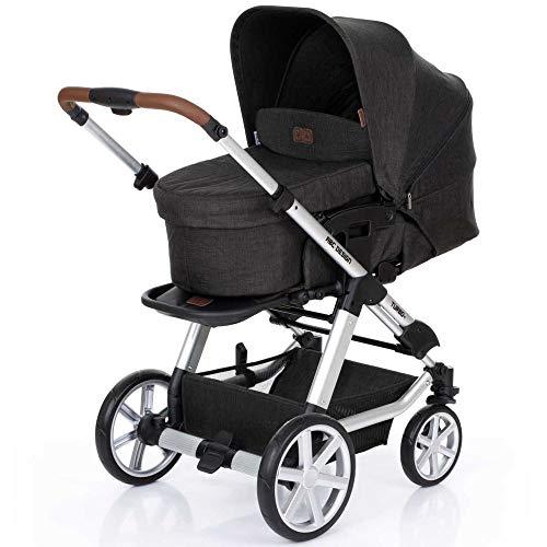 ABC Design Turbo 4 - Kombikinderwagen - Komplett-Set 2in1 - inkl. Babywanne & Sportwagen (Piano)