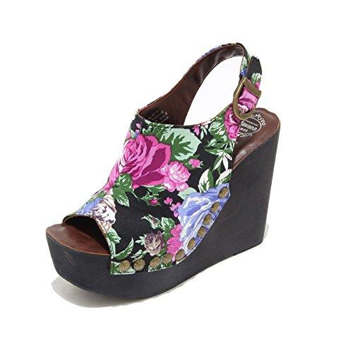 3281I sandali zeppe JEFFREY CAMPBELL snick scarpe shoes women Nero