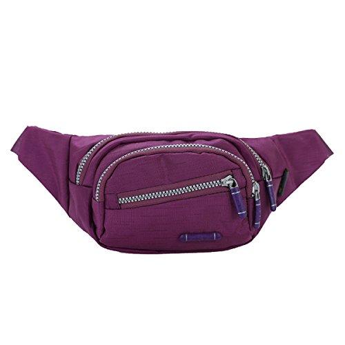 Lady Moda Colore Solido Sacchetto Del Messaggero Multi-zip Il Turismo Il Tempo Libero Borse Fanny Pack (stili Multipli),C D