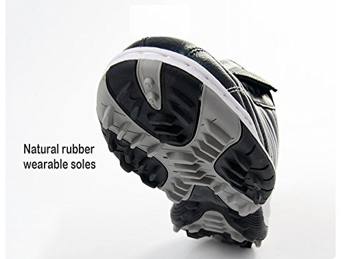 a-nam hommes Chaussures de Football Bottes de Football sol dur pour l'intérieur, de football Entraînement, Course à pied et Quotidien Bleu/argenté