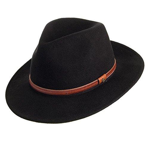 Village Hats Chapeau Fedora Safari Rantoul noir STETSON