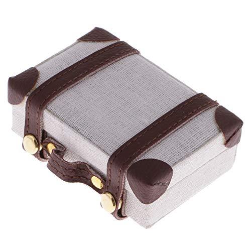 Lopbinte 1: 6 Puppen Haus Koffer Haus Kreative Tragbare Koffer DIY Puppen Haus Koffer Zubeh?R für Puppen Haus Dekoration Zubeh?R Beige +