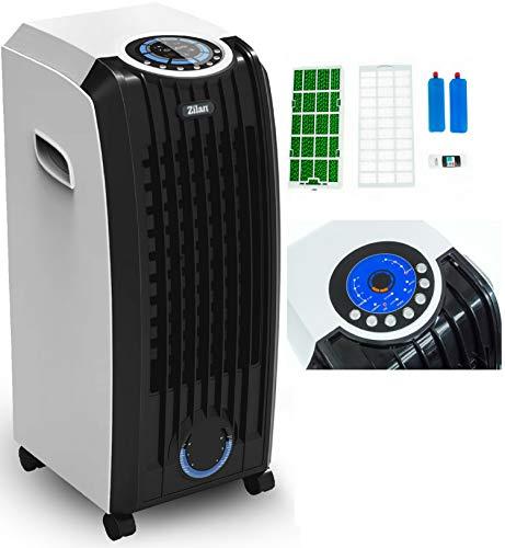3in1 Aircooler | 8 Liter | Mobile Klimaanlage | Klimagerät | Luftreiniger | Klima | Ventilator mit Fernbedienung | Luftkühler | Luftbefeuchtung | Klima Anlage | Timer | 3 Stufen | Standventilator