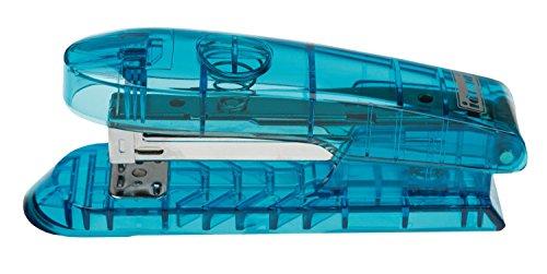 Idena 331122 agrafeuse en plastique turquoise transparent
