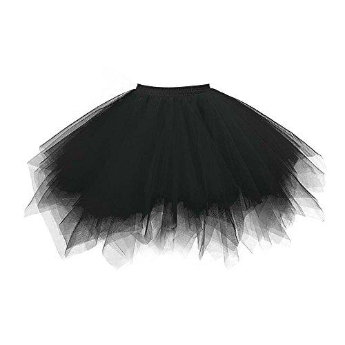 VKStar Retro Damen Kurz Rock Ballett Einheitsgröße Vintage Petticoat 50er Unterrock Reifrock Mehrfarbige Unterröcke ()