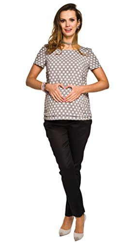 Elegantes und bequemes T-Shirt / Umstands- T-Shirt, Modell: FISSI Grau
