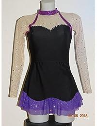CREATJUSTO Justaucorps GR Modèle Elena Noir Violet ML a4b8d422157