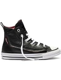 2380b12916774 Amazon.fr   converse cuir noir - Chaussures   Chaussures et Sacs
