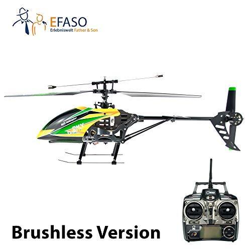 efaso RC Helikopter V912 mit Brushless Motor - 2,4 GHz, 4-Kanal Single Blade Gyro Hubschrauber komplett RTF (Hubschrauber 912)