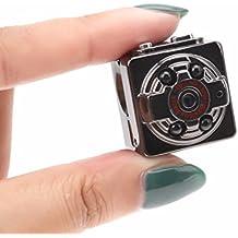 iiniim Mini Videocámara Espía Cámara Oculta Soporte de movimiento de detección con visión ...