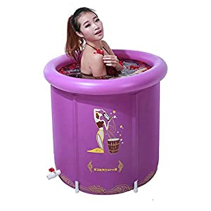 HHUT Bathtub - Inflatable Bath Tub PVC Portable Tub SPA Environmental Portable Tubs For Adults Portable Suitable For Bathing Medicated Bath Children Swimming In Water 70x70cm