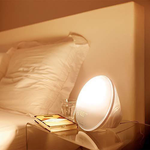 Philips HF3520/01 Wake-Up Light (Sonnenaufgangfunktion, digitales FM Radio, Tageslichtwecker) weiß - 5