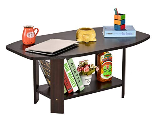 DeckUp Dusun Matte Finish Coffee Table, 39x21.4x16.5-inch (Dark Wenge)