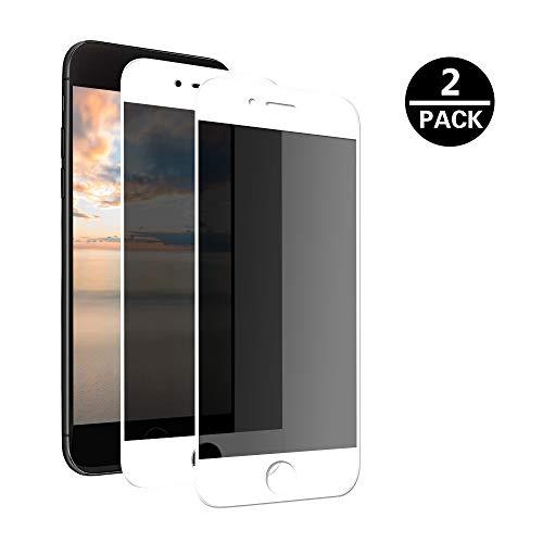 MoEvn Panzerglas Anti-Spy für iPhone 6 Plus, 3D Full Screen Privacy Panzerglas Schutzfolie 9H Gehärtetem Panzerglasfolie 2 Stück Folie Sichtschutz für iPhone 6S Plus/6 Plus (5.5