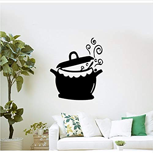 Living Room Wall Stickerhome Decor Vinyl Kitchen Pot And Wok Wall Decal Removable Cooking Kettle Wall Sticker Kitchen Decor Ay615 57X68Cm