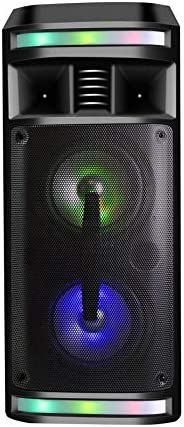 DYNASONIC - DY-65201 Altavoz Bluetooth Inalámbrico Sistema de Audio | Bluetooth, Altavoz Portatil, USB, Luces