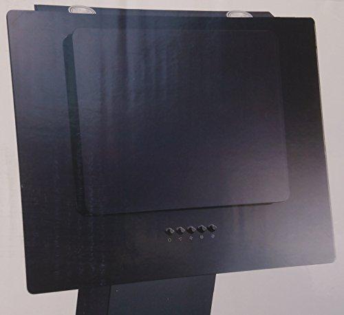 respekta kopffreie Schräghaube Dunstabzugshaube Abzugshaube Wandhaube Glas 60 cm schwarz / 3 Leistungstufen / Abluft und Umluft / LED