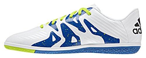 adidas Jungen X 15.3 in Fußballschuhe Weiß (Ftwr White/Core Black/Semi Solar Slime)