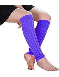 LIN Soldes Femmes Hiver Chaud Jambières Au Crochet Slouch Boot Chaussettes  Bas De Laine d801961541e