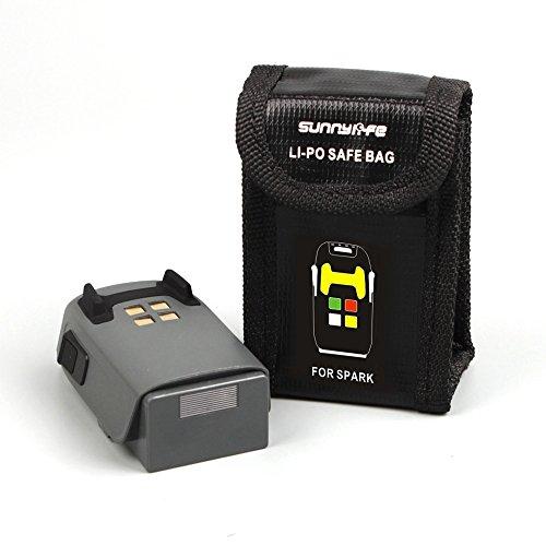 Flycoo Fireproof Sac résistant au feu en fibre de verre Batterie Lipo RC Pochette Sac de sécurité Safe Guard pour DJI Spark Drone Batterie