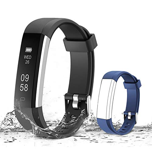 MUZILI Smart Fitness Band with Sleep Monitor, Step Calorie Counter for Android or iOS Smartphones