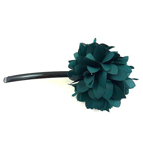 rougecaramel - Accessoires cheveux - Mini pince fleur - vert