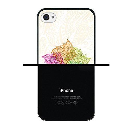 iPhone 4 iPhone 4S Hülle, WoowCase Handyhülle Silikon für [ iPhone 4 iPhone 4S ] Herzen aus Federn Handytasche Handy Cover Case Schutzhülle Flexible TPU - Transparent Housse Gel iPhone 4 iPhone 4S Schwarze D0150