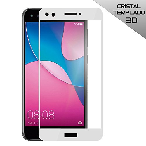 PHONELAND Protector Cristal Templado Premium 3D (Cubre 100% Pantalla) para Huawei P9 Plus Color Blanco
