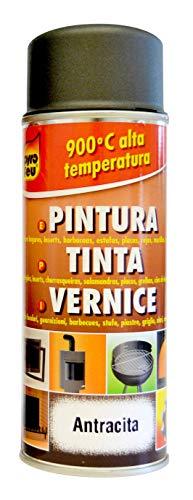 Pyro Feu 24952-6 Pintura térmica 900°c Antracita-Aerosol 400ml, 400 ml