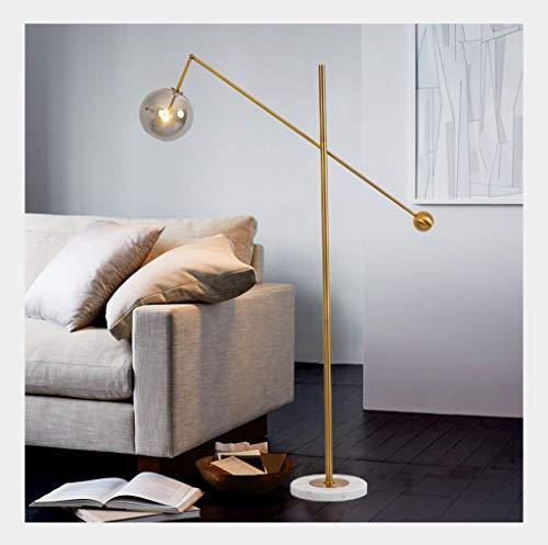 *Stehlampe Stehlampe Moderne Glaskugel Wohnzimmer Schlafzimmer Design Kunst Marmor Stehlampe Stehlampe gewölbt (Color : Gold) - Zwischen Winkel-reiniger
