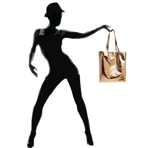 CASPAR Fashion, Borsa a spalla donna oro rosa