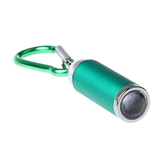 Homyl Outdoor Schlüsselanhänger Taschenlampe Mini LED Taschenlampe kleine Lampe - Grün