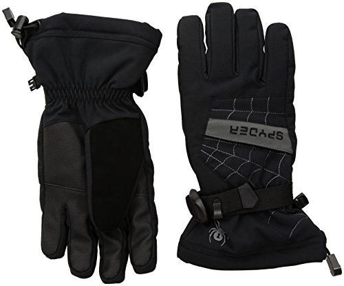 Spyder Kinder Boy'S Overweb Handschuhe, 015 Blk/Pol, M (333) (Kinder Für Spyder Skibekleidung)