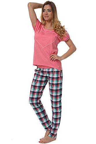 Italian Fashion IF Ensemble de Pyjama - Femme Manuela 0230 Rose