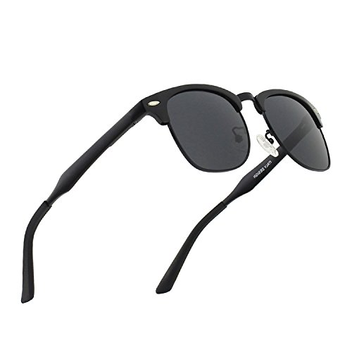 0e5a72e9a9cd4d CGID GD58 Al-Mg Alloy Frame Polarized Sunglasses UV400,Sun Glasses with  Metal Rivets