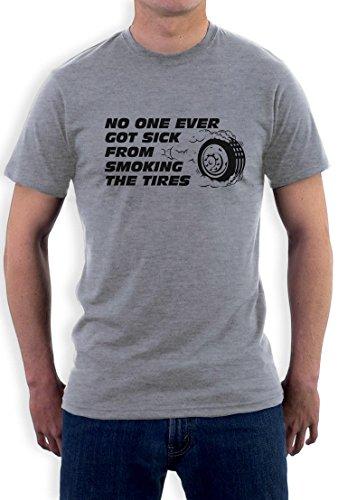 Geschenk für PS und Motoren Fans No one Ever Got Sick T-Shirt Grau